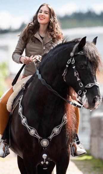 Betina riding a horse