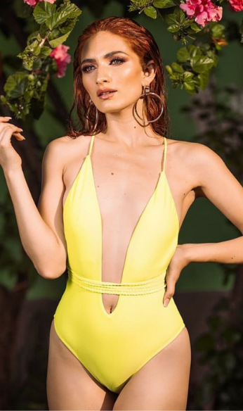 Yellow One piece photo