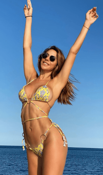 Sunglasses and two piece bikini photo