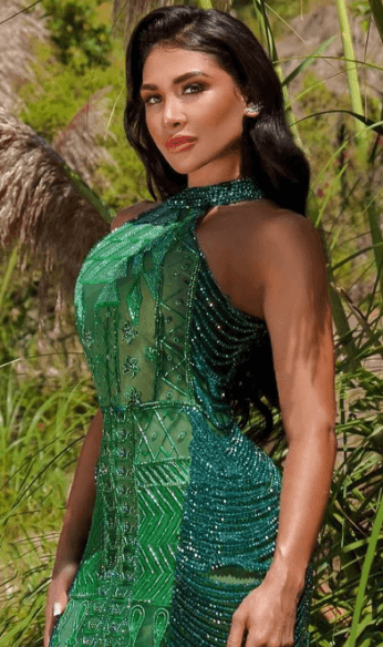 Julieth in green gown