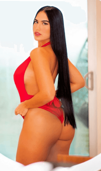 Red swimsuit photo
