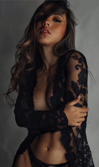 Black lace long sleeve set