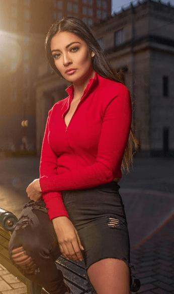 Brenda wearing red top