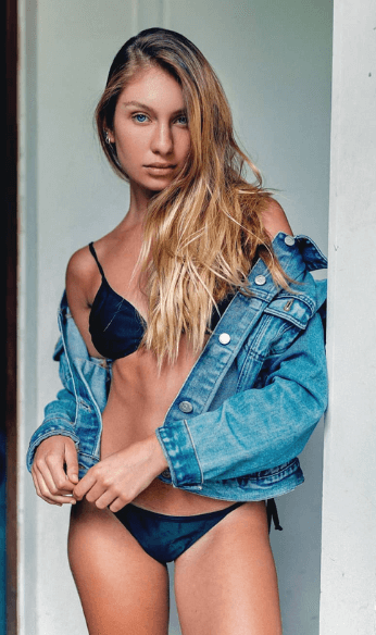 Jean jacket and swimsuit
