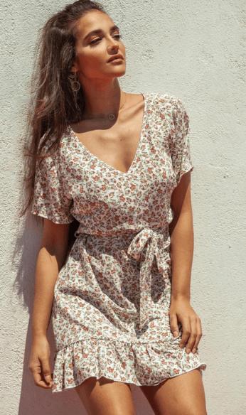 Paulina wears Floral Dress