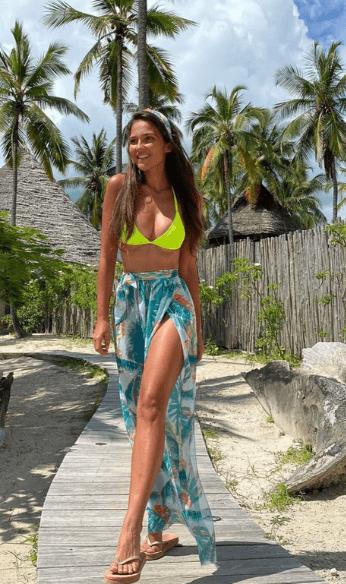 Green swimsuit photo