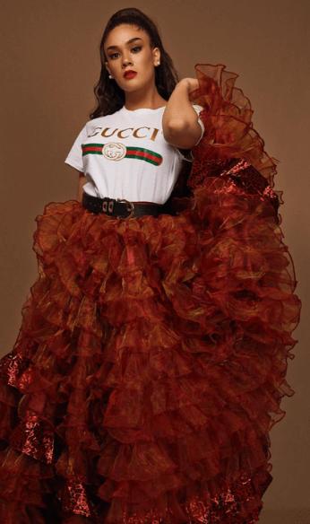 Maria wearing Gucci