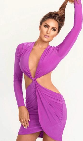 Rianna violet dress