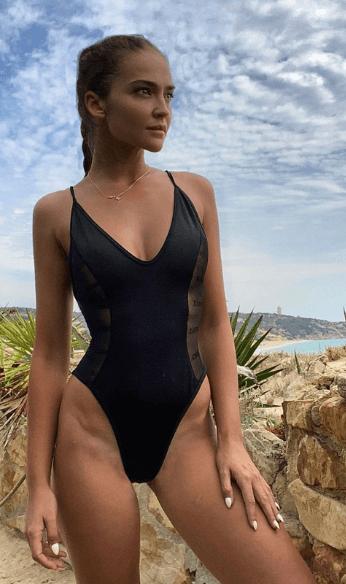 Black swimsuit one piece