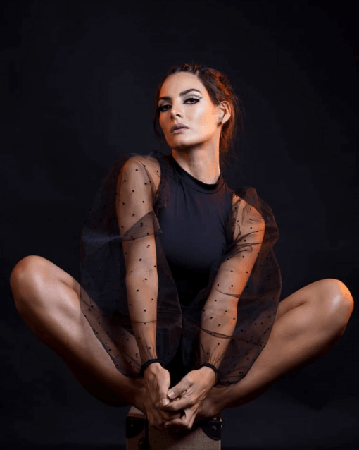 black lace dress with black background