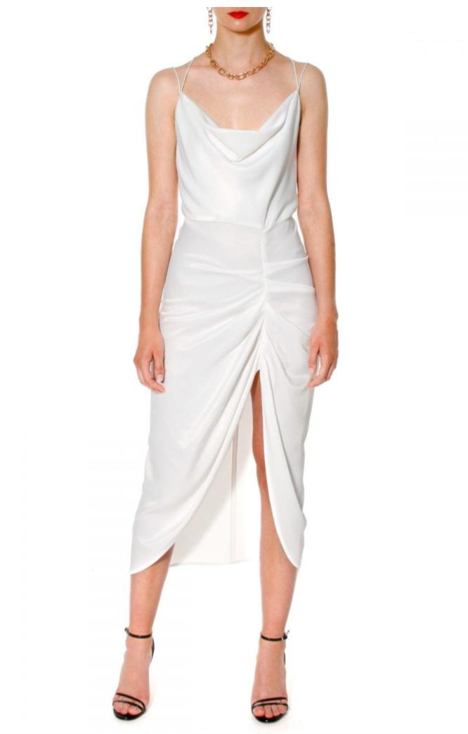 Dress ava bright white