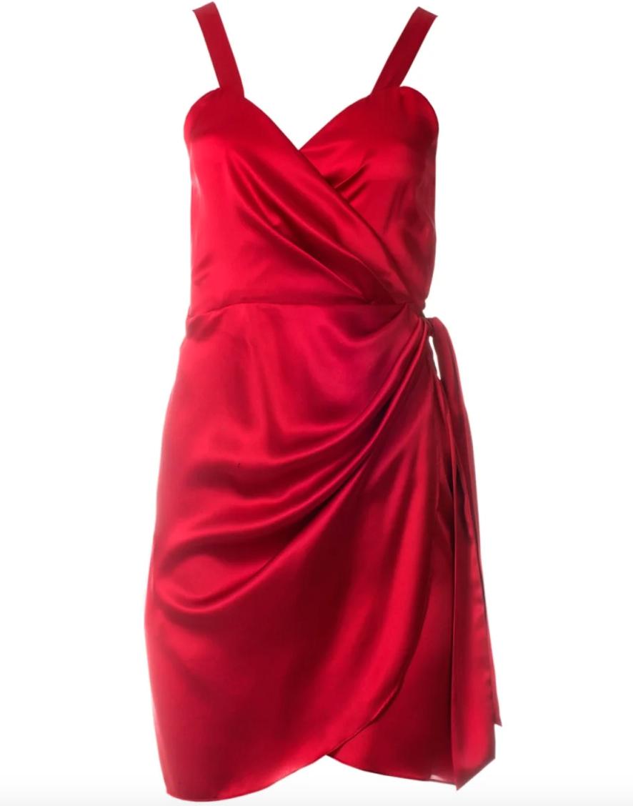 Lea Silk Dress In Red