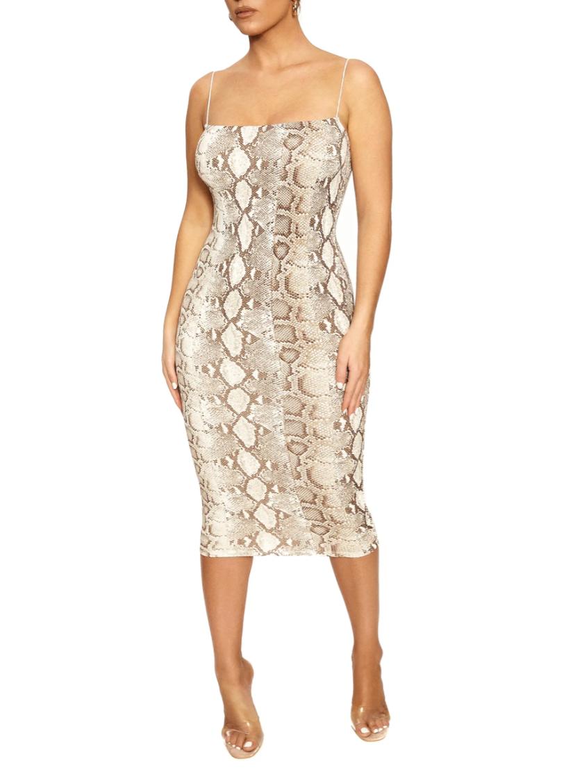 Snakeskin Print Cami Dress