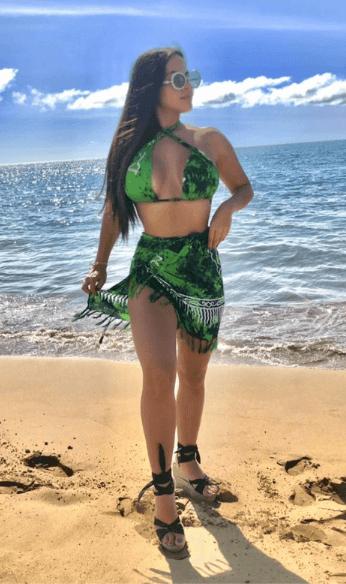 Kathiria green swimsuit